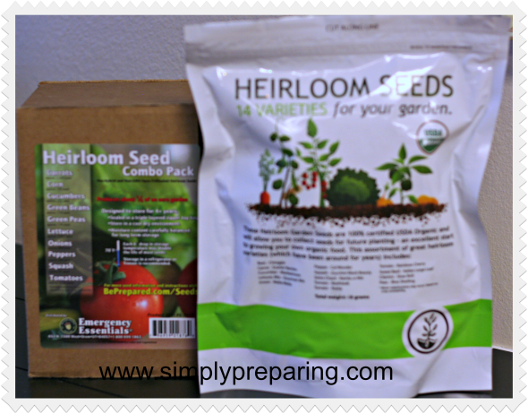Heirloom seeds- long term emergency seed storage