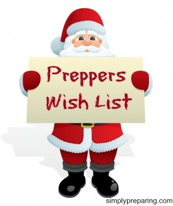 Preppers Wish List