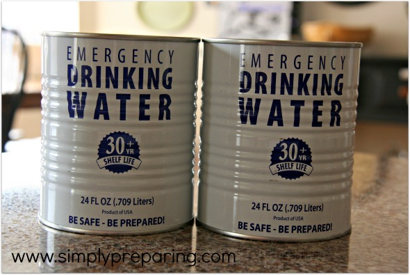 emergency drinking water storage- commercially available