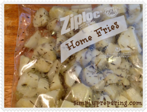 prepping with potatoes: homemade home fries