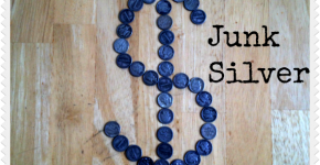 junk silver dollar sign