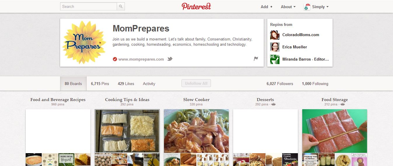 Top 5 Pinners to Follow  For Prepping-Mom Prepares