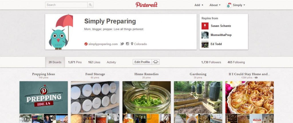 Top 5 Pinners to follow for prepping on Pinterest-Simply Preparing