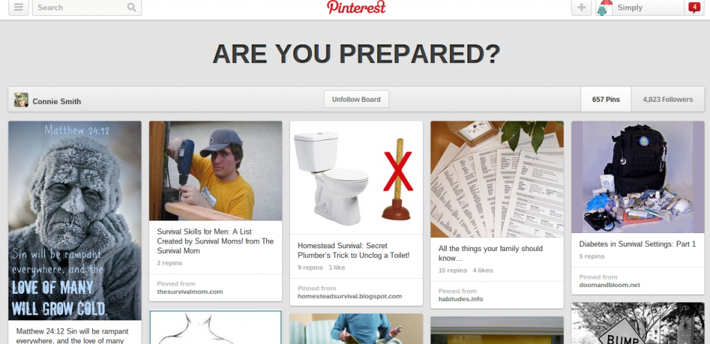 Are you prepared? pinterest board