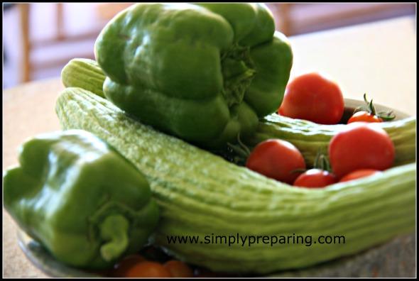 gleaned vegetables
