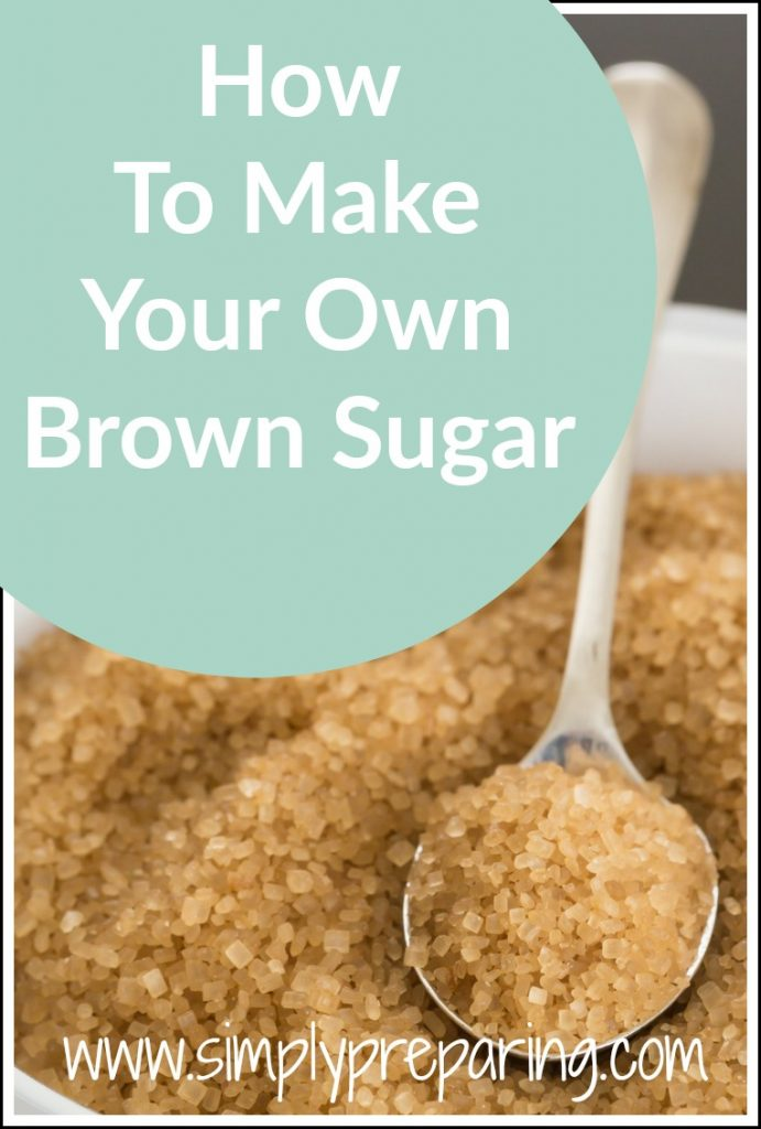 How to make brown sugar for baking, desserts and sweets.  A DIY recipe that can be used in your homemade and nautral products like body scrubs.  A frugal tip that will save your money too!