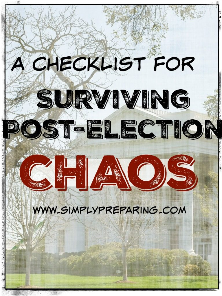 Post-Election Survial: What you need to know!