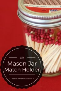 A super easy way to store matches!