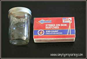 Mason Jar Match Holders are so easy to make!