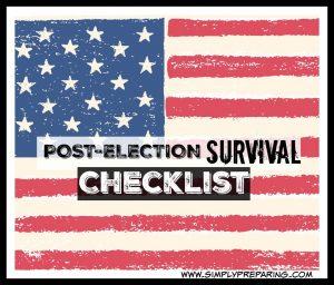 A checklist to prepare for post-election survival