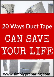 How to use duct tape for survival and emergency preparedness. From First Aid to camping, to hiking, to DIY projects, duct tape has you covered!