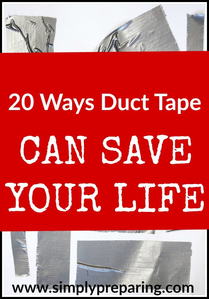 Survial and emergency preparedness uses for duct tape. From first aid kits, to camping, to hiking and DIY projects, duct tape has you covered!