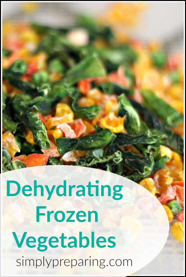 Dehydrating Frozen Vegetables