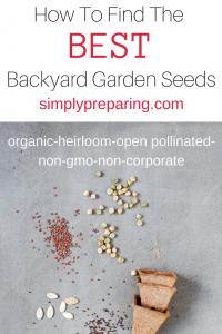 Non-GMO Garden Seed Sources