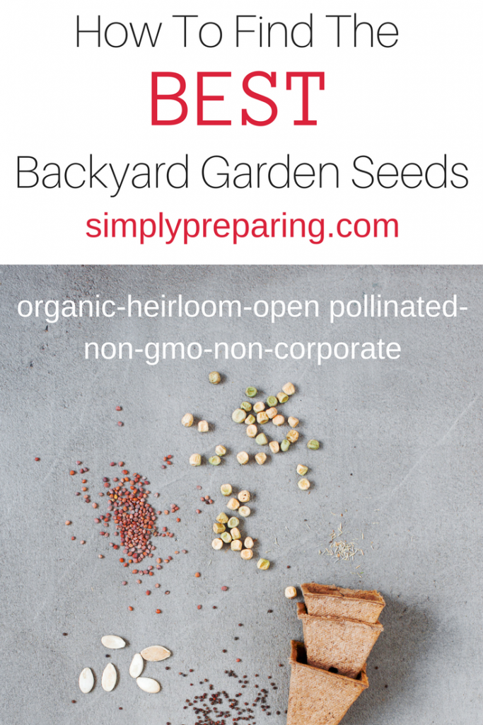 Non-GMO Garden Seed Sources