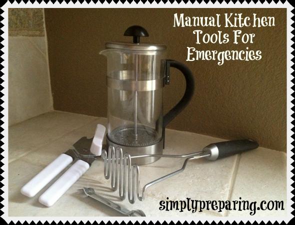 manual kitchen tools for emergencies