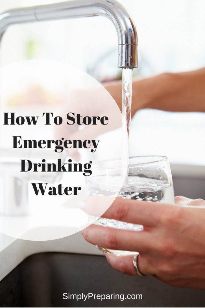 Emergency Drinking Water Storage