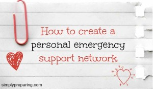 How to create support network for personal emergencies