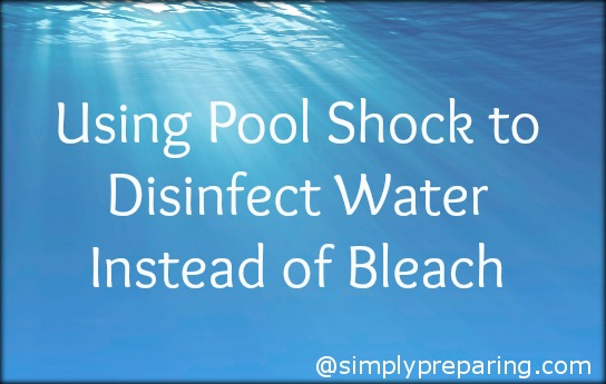disinfect water with pool shock