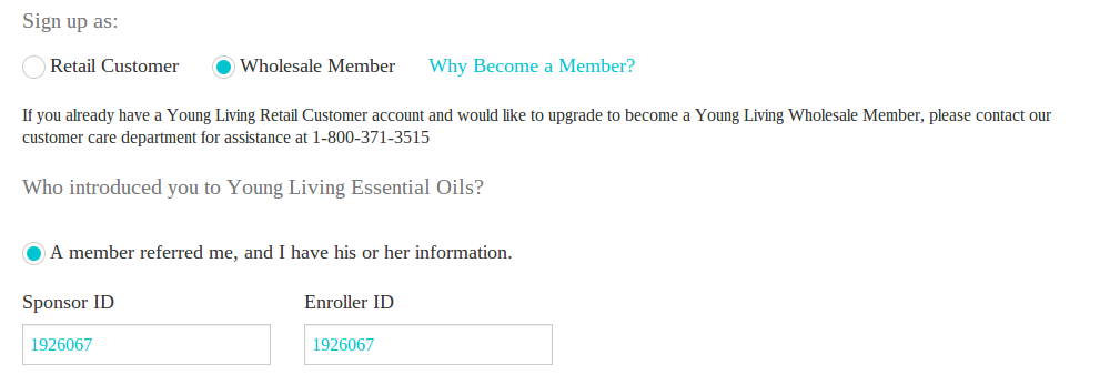 How to sign up for Young Living