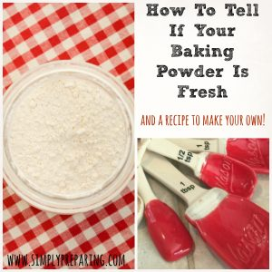 Baking Powder Recipe