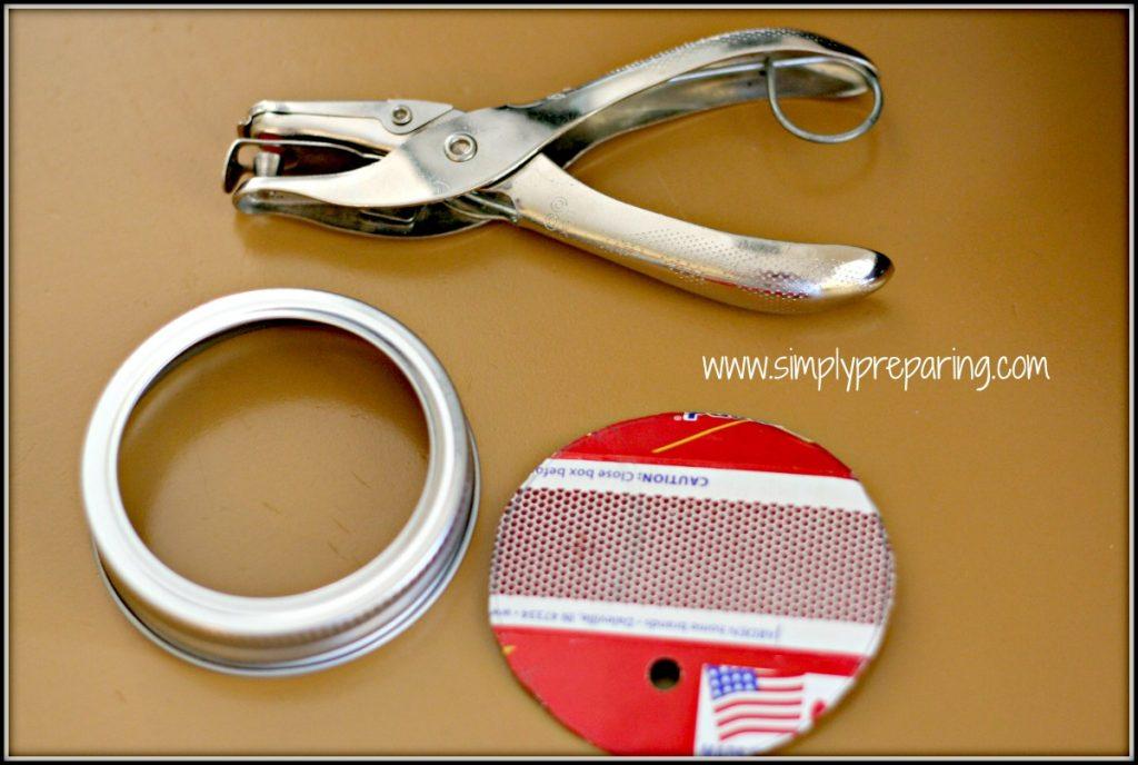 What you need to make a mason jar match holder