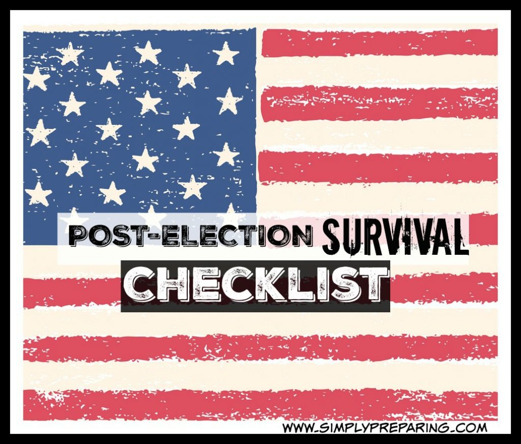 A checklist to prepare for post-election survival