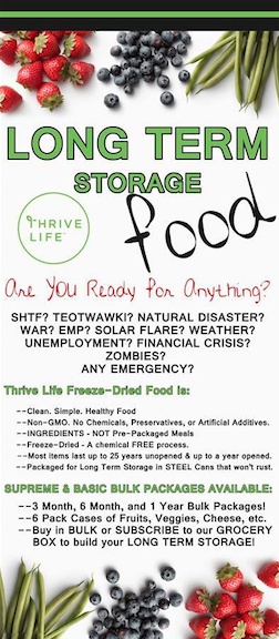 Thrive Freeze Dried Foods