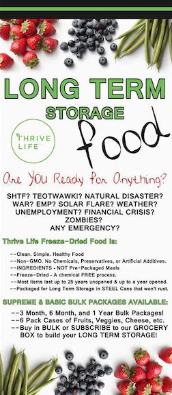 Thrive Freeze Dried Foods