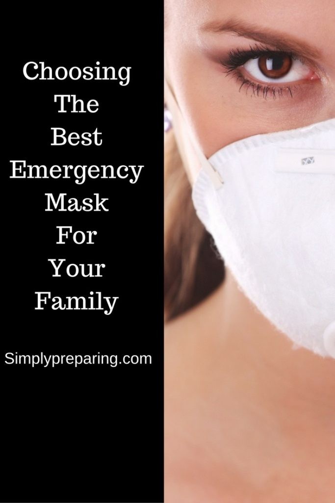 Choosing an emergency face mask.