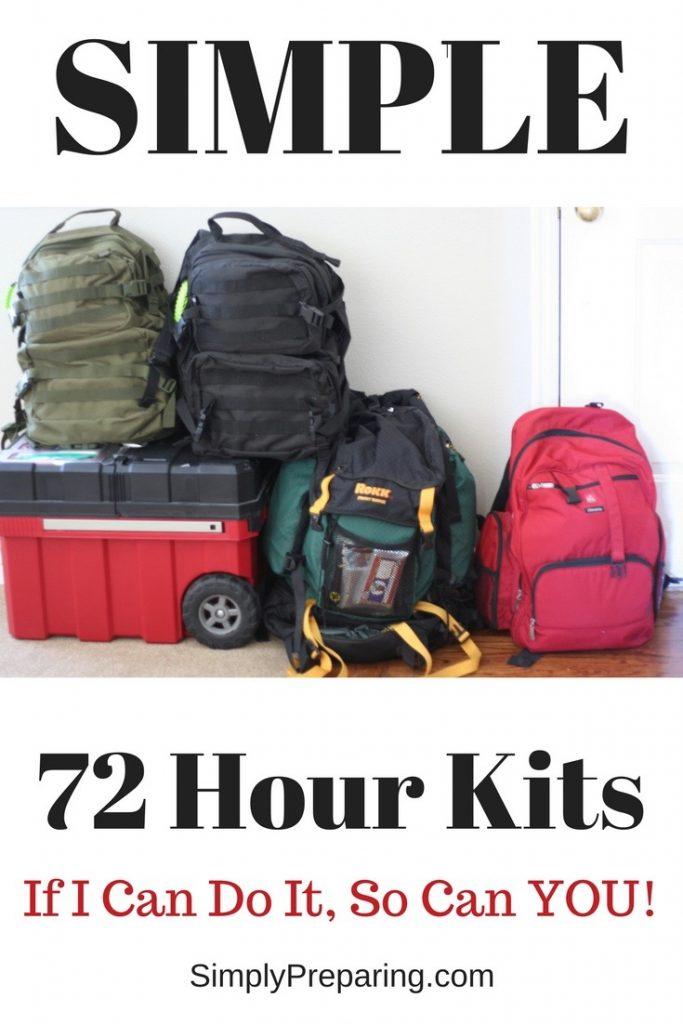 Simple 72 Hour Kits