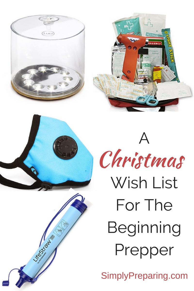 Beginning Prepper's Wish List