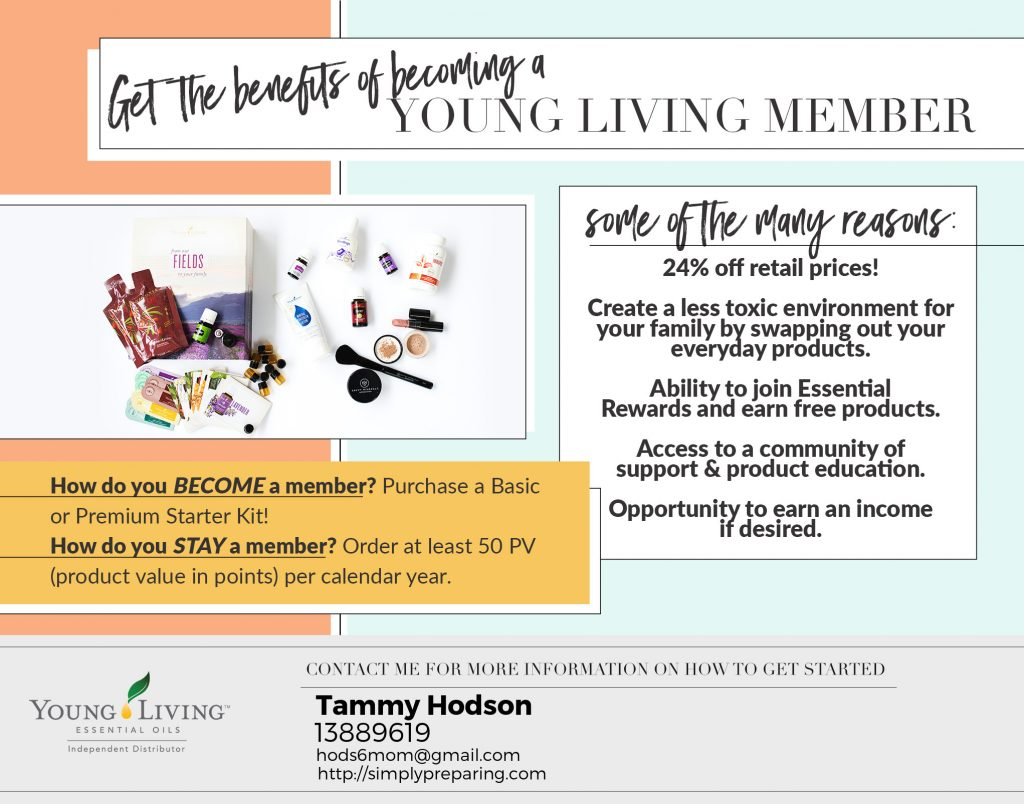 Benefits of being a Young Living Member