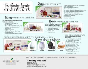 The 2018 Young Living Premium Starter Kit Choices for essential oils for prepping