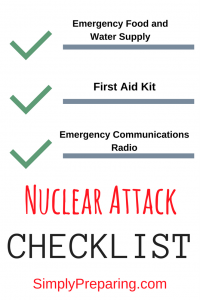 A Checklist to Survive a Nuclear Attack
