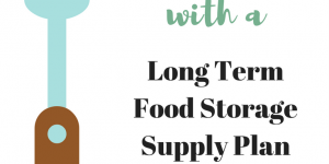 Long Term Food Storage Supply Plan: Food Security