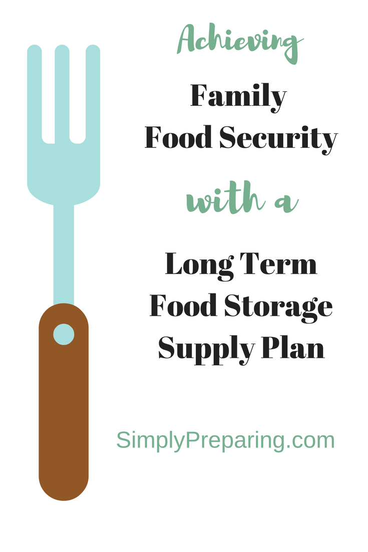 Family Food Security with a Long Term Food Storage Supply List