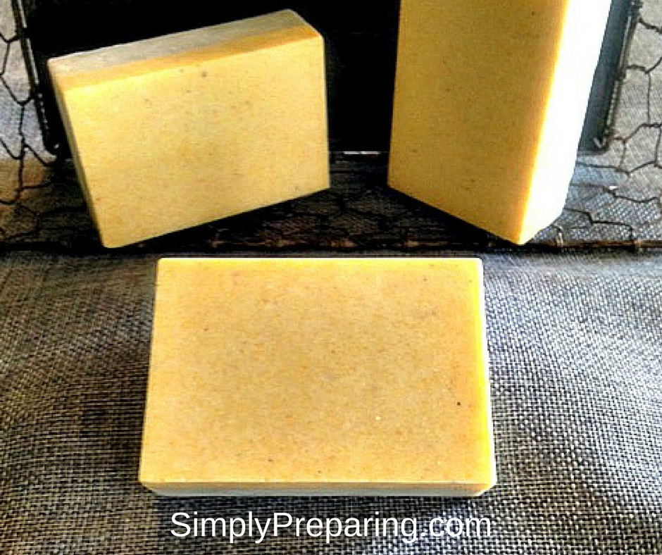 Homemade DIY Gardener's Soap With Essential Oils