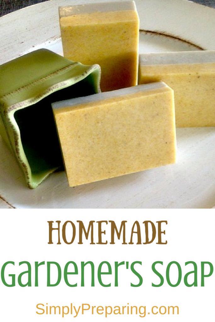 Homemade DIY Gardener's Soap
