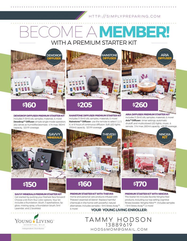 Young Living Premium Starter Kit Options