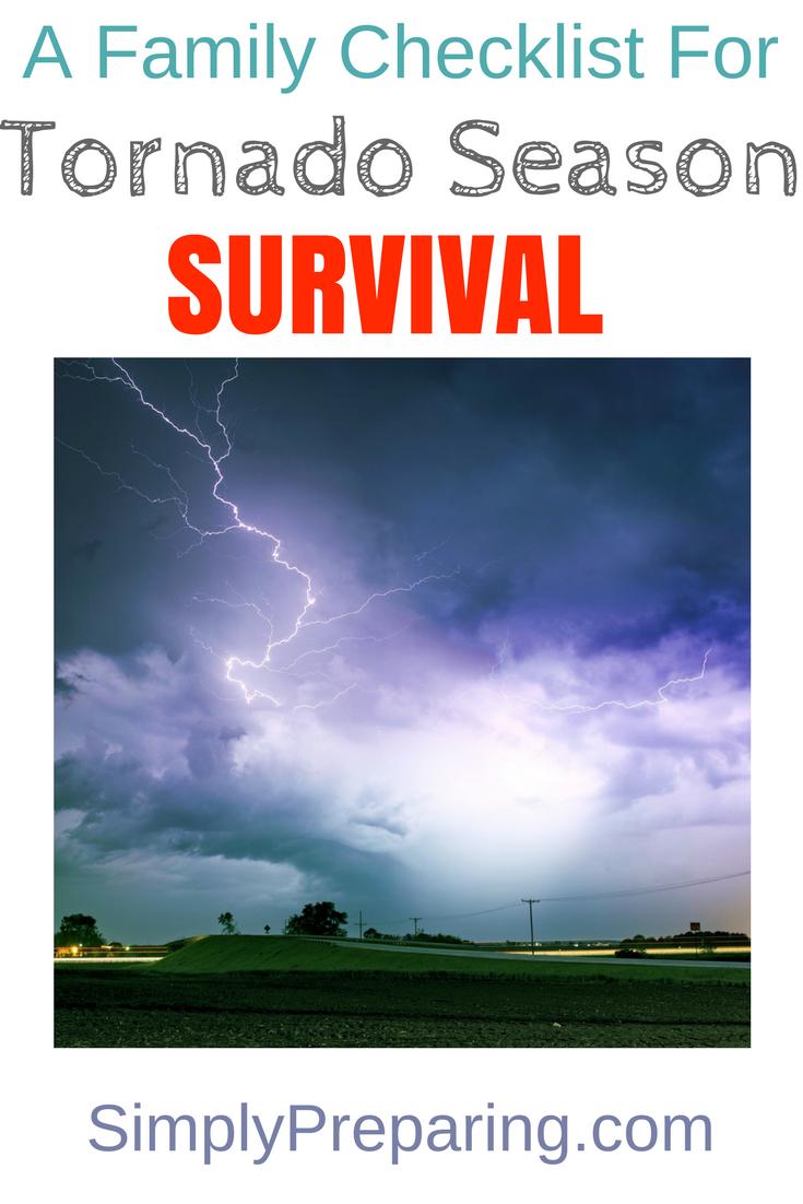 Tornado Survival Checklist