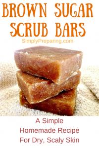 Homemade Organic Brown Sugar Scrub Bars With Essential Oils