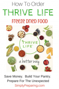 How To Order Thrive Freeze Dried Food