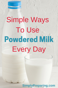 Every Day Uses For Powdered Milk