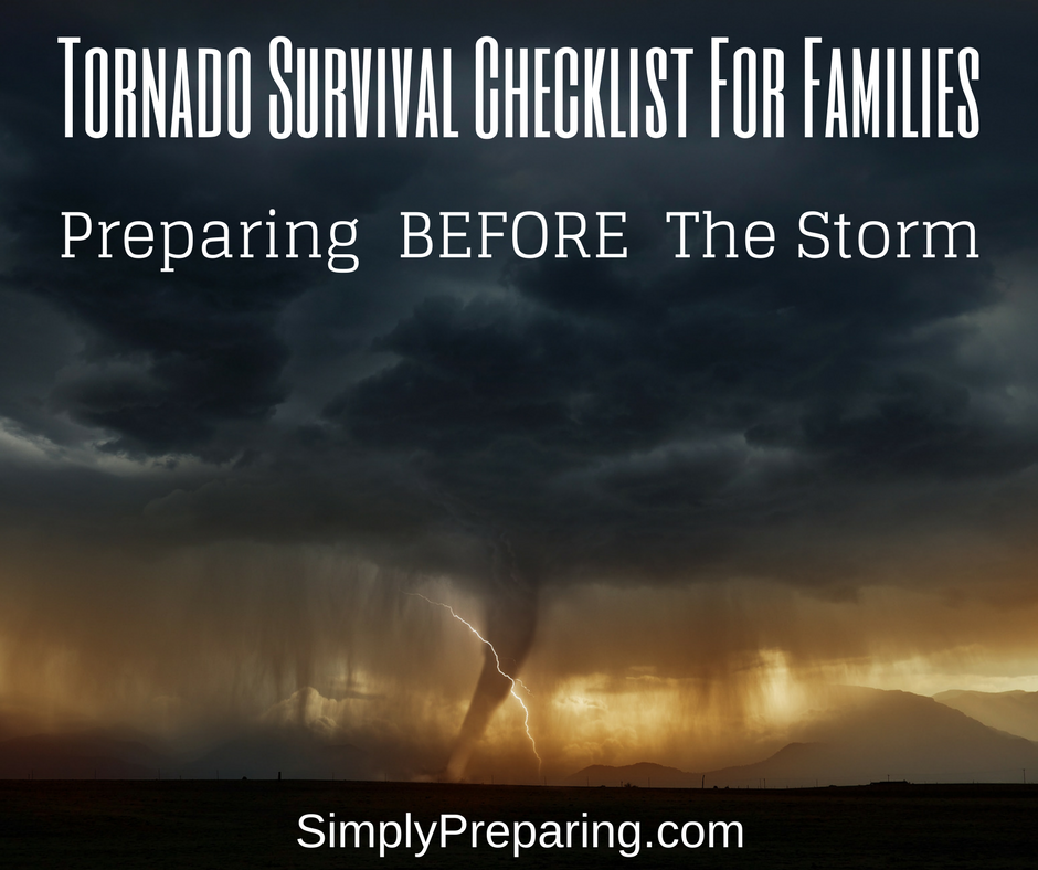 Tornado Survival Checklist For Families