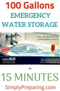 100 Gallons Of Emergency Water Storage